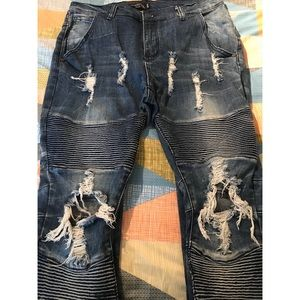 Men Underated Moto Skinny Jeans